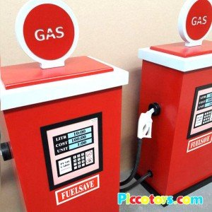خرید پمپ بنزین و گاز چوبی طرح جدید مدل 9310