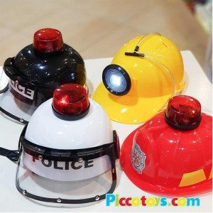 کلاه پلیس کودک همراه با آژیر رنگ مشکی