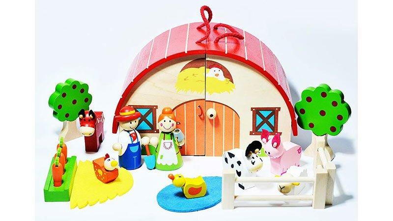 اسباب بازی چوبی مزرعه 16 تکه پیکاردو