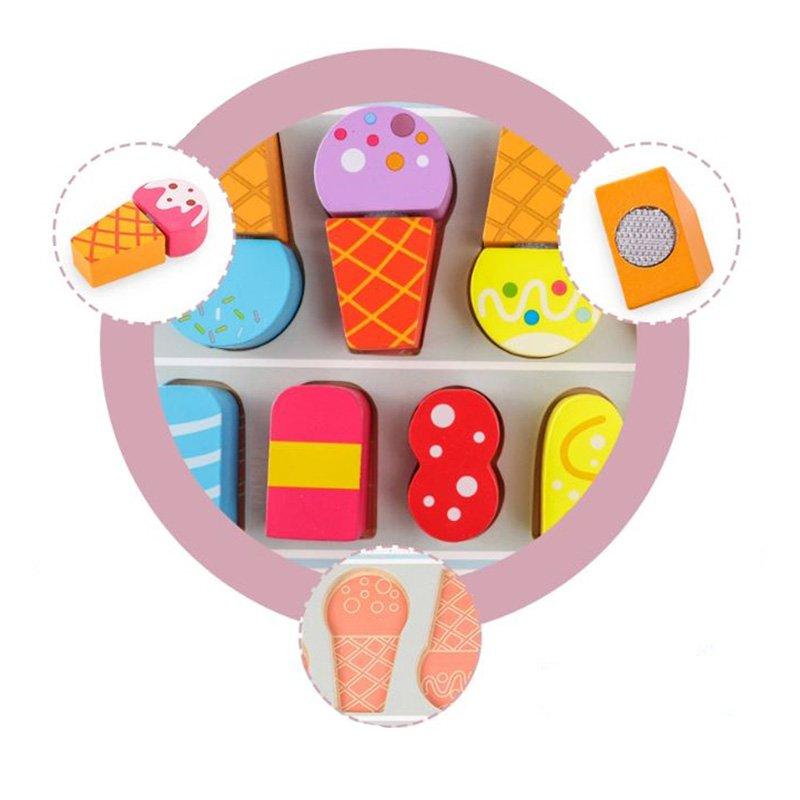 اسباب بازی چوبی بستنی فروشی