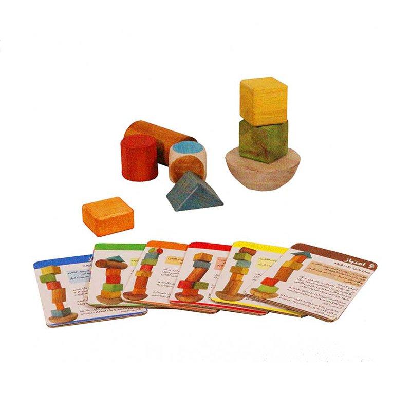 اسباب بازی چوبی برج تعادل