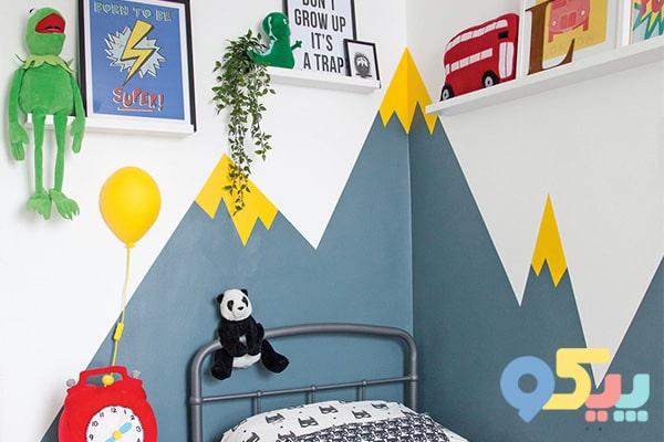 تزیین اتاق کودک با رنگآمیزی