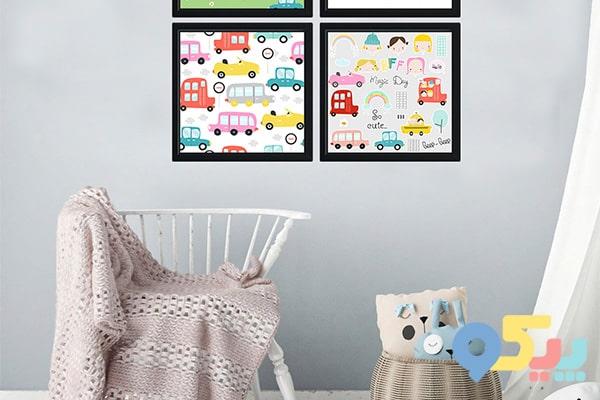 تزیین اتاق کودک با چسبهای رنگی