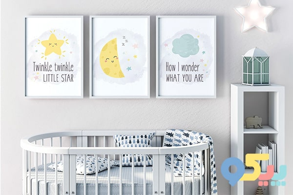 تزیین اتاق کودک با قاب عکس