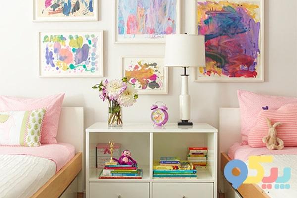 تزیین اتاق کودک با نقاشیهای او