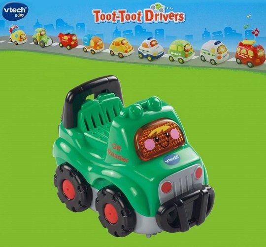 جیپ سبز موزیکال drivers off roader vtech 164203