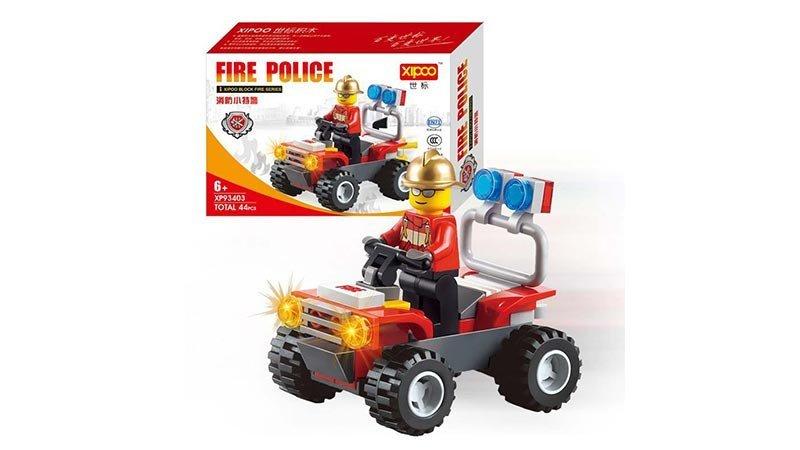 لگو مامور آتش نشانی با مینی فیگور 44 تکه