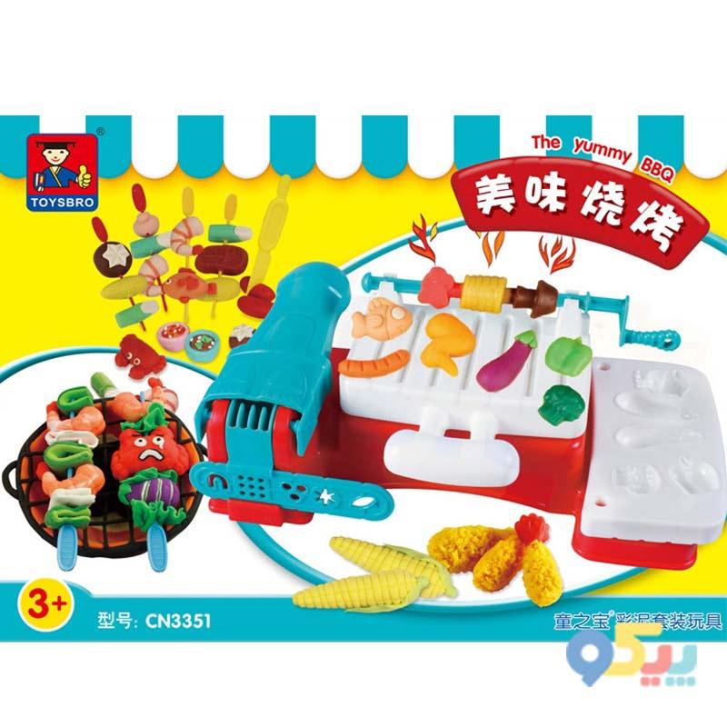ست میز خمیر بازی کودک مدل باربیکیو