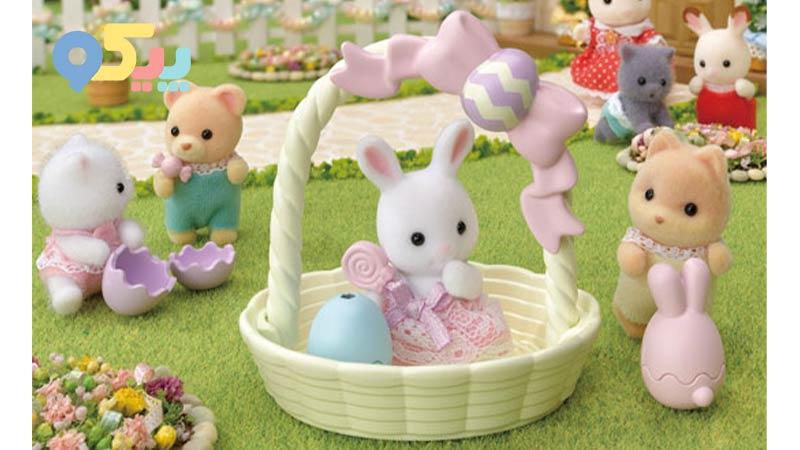 ست خرگوش و سبد سیلوانیان فامیلیز 5531 sylvanian families