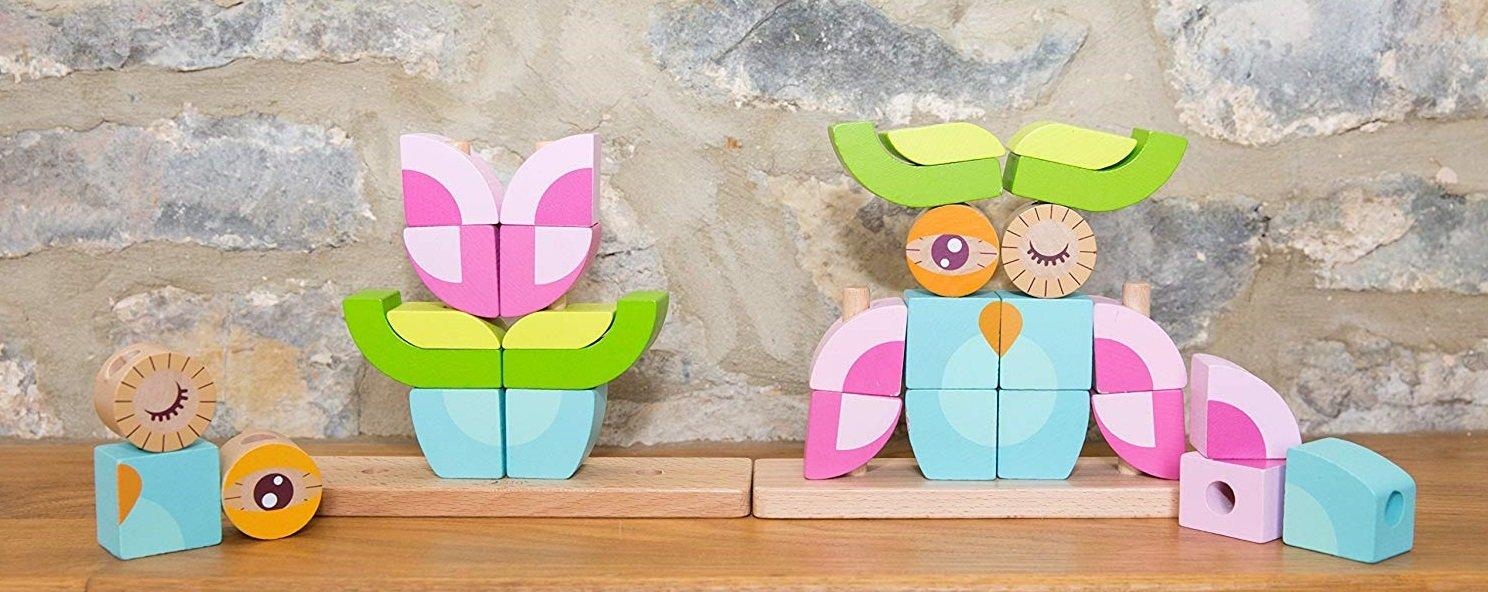 بلوک 24 تکه چوبی classic world مدل Owl Blocks set 3708