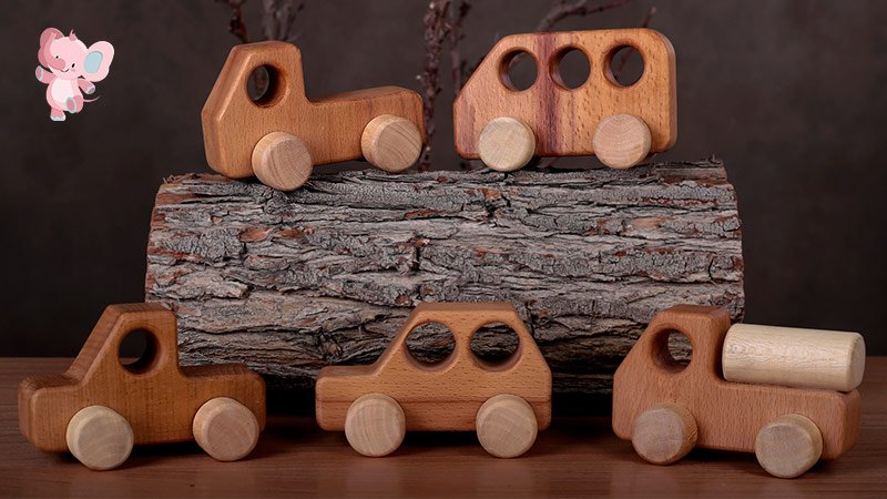 ماشین اسباب بازی چوبی پوپولوس Hicar