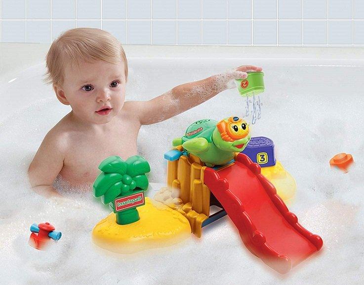اسباب بازی حمام هوش و سرگرمی  وی تک Toot Toot Splash Bath Island vtech 187603