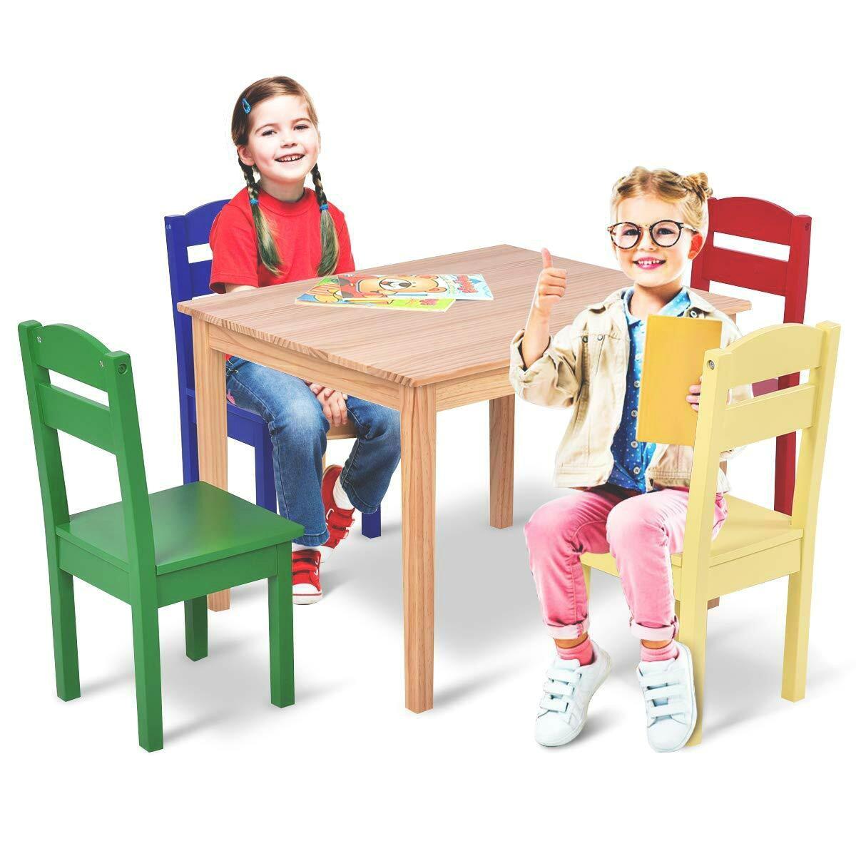میز و ندلی چوبی کودک