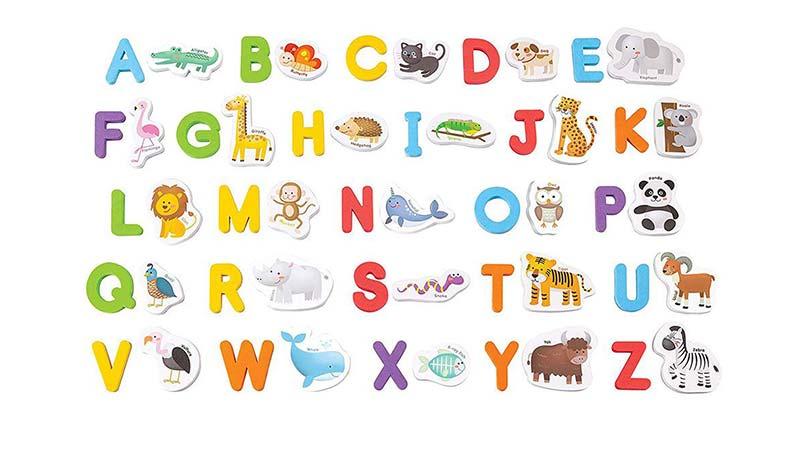 حروف انگلیسی و حیوانات مگنتی crayola