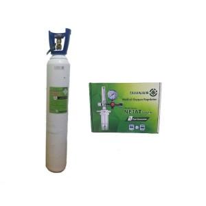 کپسول اکسیژن ۱۰ لیتری(پر) ایرانی به همراه مانومتر نجات