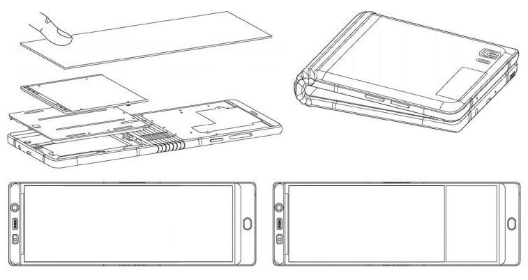 تصاویر پتنت جدید سامسونگ موبایل تاشوی گلکسی X را به نمایش می گذارند