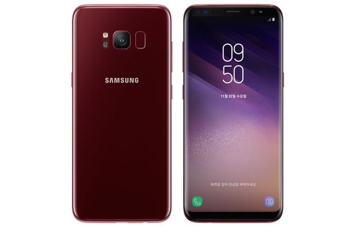 Galaxy S8 سامسونگ با رنگ آلبالویی نیز عرضه شد