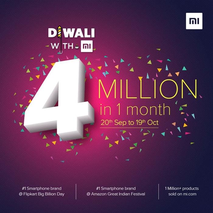 رکورد جدید شیائومی: فروش ۴ میلیون گوشی شیائومی در ۱ ماه!