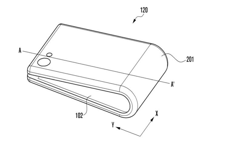 طرح اولیهی دیگری از گوشی تاشوی سامسونگ منتشر شد