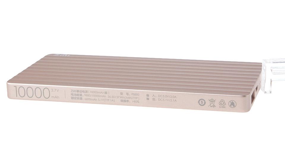 شیائومی نسخه مشکی پاوربانک ۱۰۰۰۰ میلی آمپر ZMI مدل QB810 را رونمایی کرد
