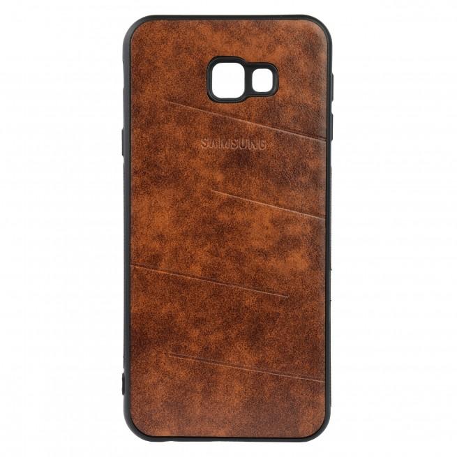 کاور مدل Leather مناسب برای گوشی موبایل سامسونگ J4 plus 2018