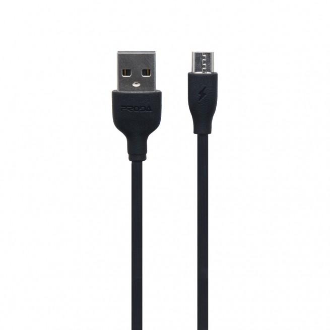 کابل تبدیل USB به MicroUSB پرودا مدل PD-B15m طول 1 متر