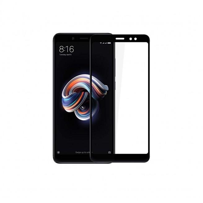 محافظ صفحه نمایش تمام چسب شیشه ای مدل 3D مناسب برای گوشی شیائومی Redmi Note 5 Pro