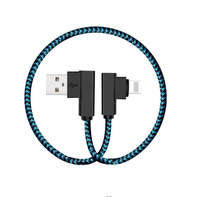 کابل تبدیل USB به لایتنینگ راک مدل Dual-End L-Shaped  RCB0519 30CM
