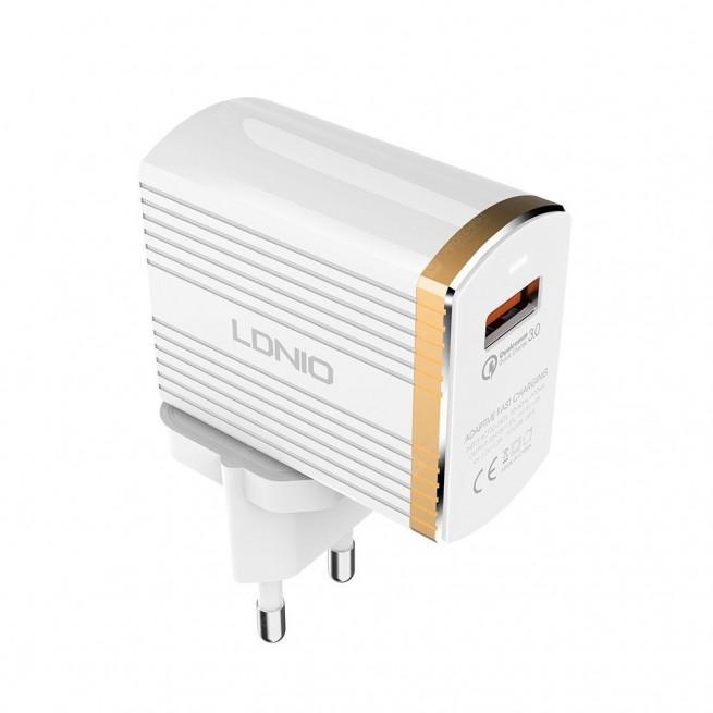 شارژر دیواری الدینیو مدل A1302Q به همراه کابل USB-C