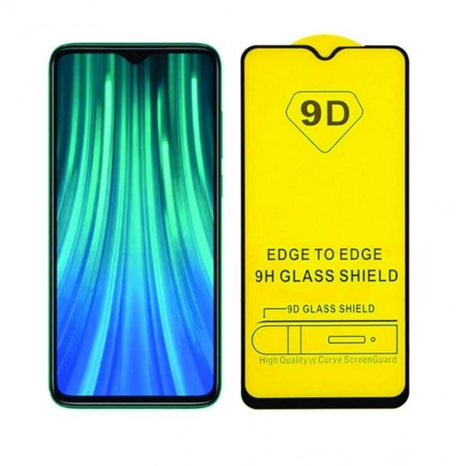 محافظ صفحه نمایش مدل 9D Pro مناسب برای گوشی شیائومی Redmi Note 8 Pro به همراه بسته بندی
