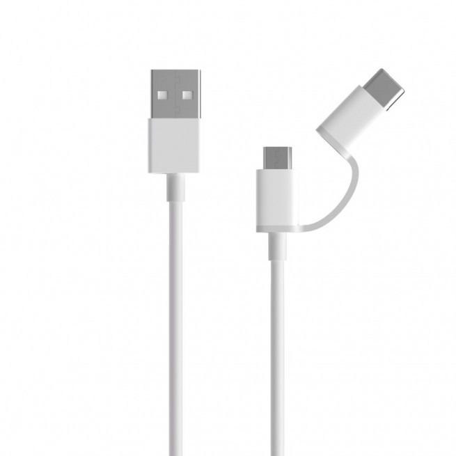 کابل تبدیل USB به MicroUSB/USB-C شیائومی مدل AL511