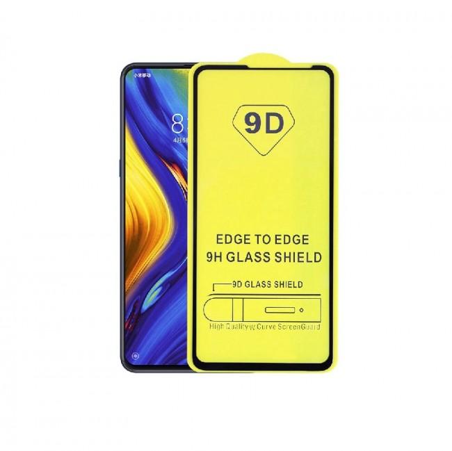 محافظ صفحه نمایش تمام چسب شیشه ای مدل 9D مناسب برای گوشی شیائومی Mi Mix 3