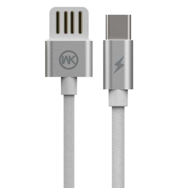 کابل تبدیل USB به Type-C دبلیو کی مدل WDC-055a طول 2 متر