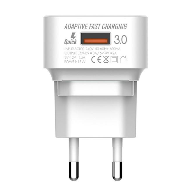 شارژر دیواری تک پورت Emy My-A302Q Charger + Micro Cable