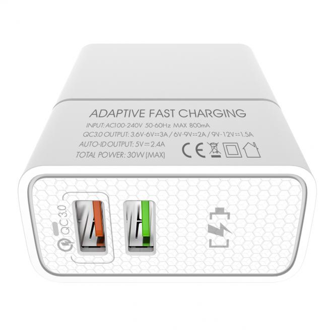 شارژر دیواری چند پورت Emy My-A501Q Charger + Micro Cable