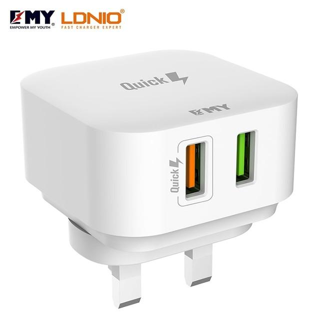 شارژر دیواری چند پورت Emy My-A502Q Charger + Micro Cable