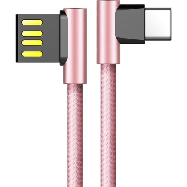 کابل تایپ سی Rock Dual-End L-Shaped Type-C Data Cable RCB0577