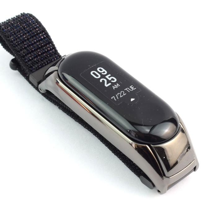 بند بافت کنفی دستبند سلامتی شیائومی Mi band 3 مدل W310-C4