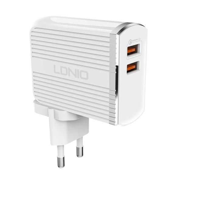 شارژر دیواری الدینیو مدل A2502Q به همراه کابل USB-C