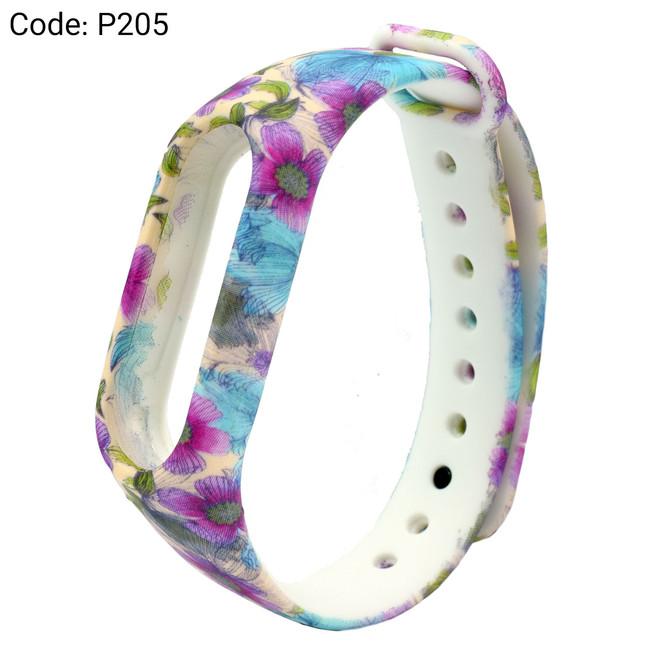 بند طرح دار دستبند سلامتی شیائومی کد P205