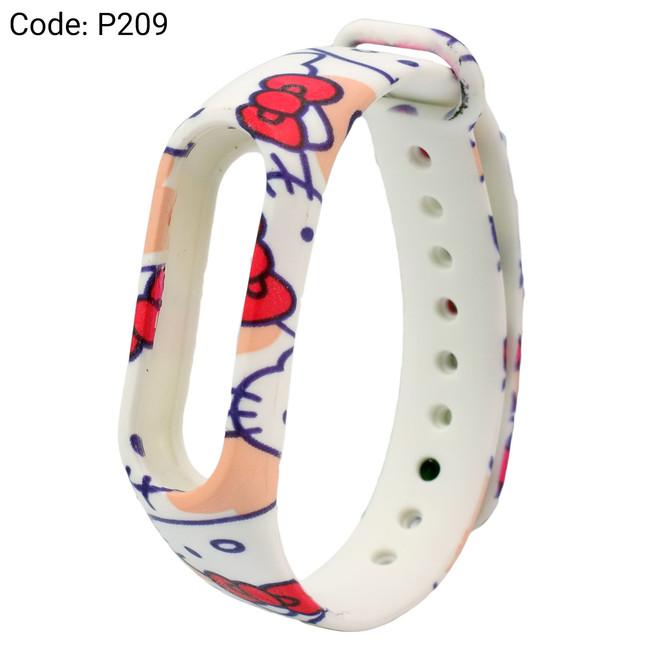 بند طرح دار دستبند سلامتی شیائومی کد P209