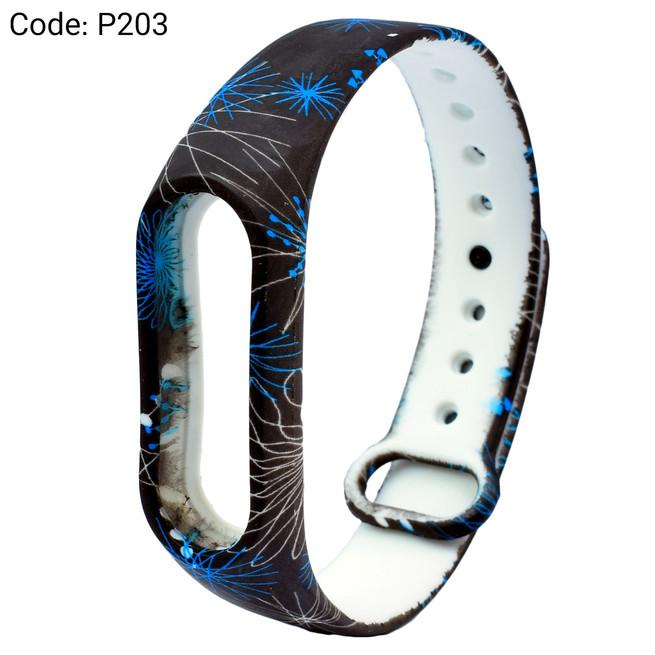 بند طرح دار دستبند سلامتی شیائومی کد P203