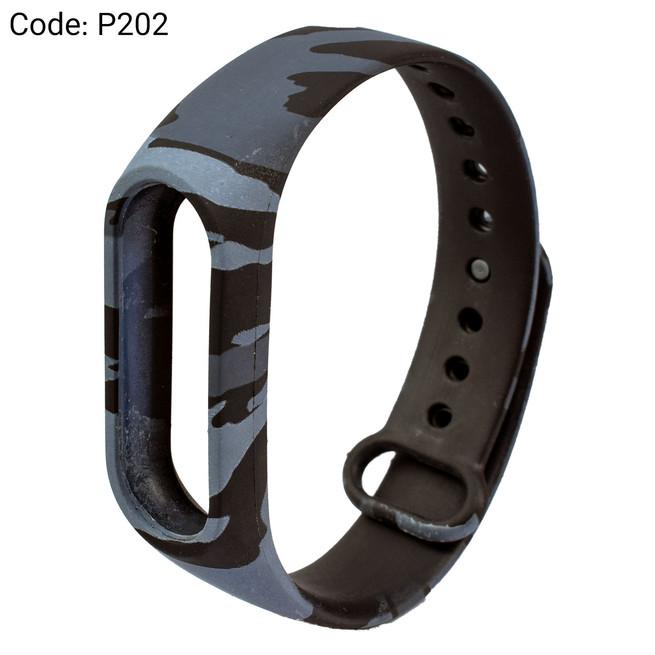 بند طرح دار دستبند سلامتی شیائومی کد P202