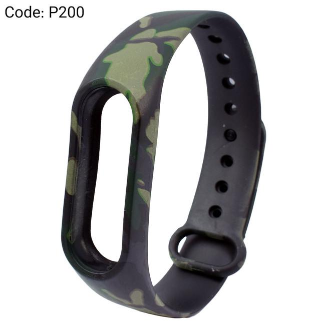 بند طرح دار دستبند سلامتی شیائومی کد P200