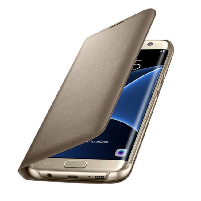 کیف محافظ اصلی Samsung Galaxy S7 Edge LED View Flip Cover