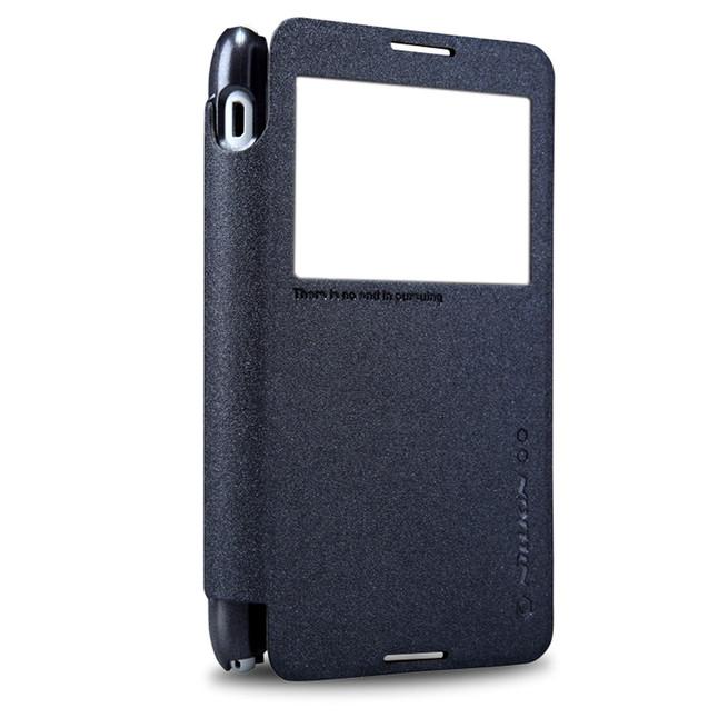 کیف محافظ نیلکین Nillkin Sparkle Leather Case Sony Xperia E4