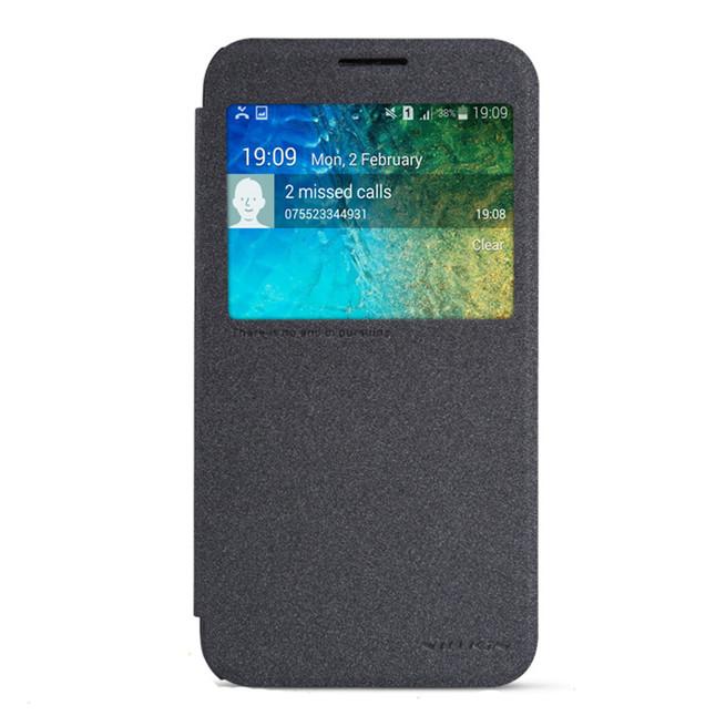 کیف محافظ نیلکین Nillkin Sparkle Leather Case Samsung Galaxy E5
