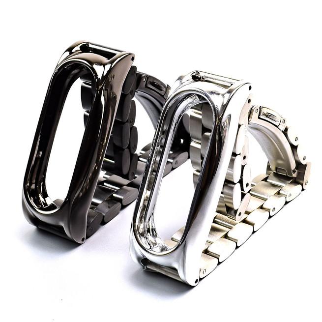 بند دستبند هوشمند شيائومي با درب پشت مغناطیسی Mi Band 2 Metal Strap کد 102