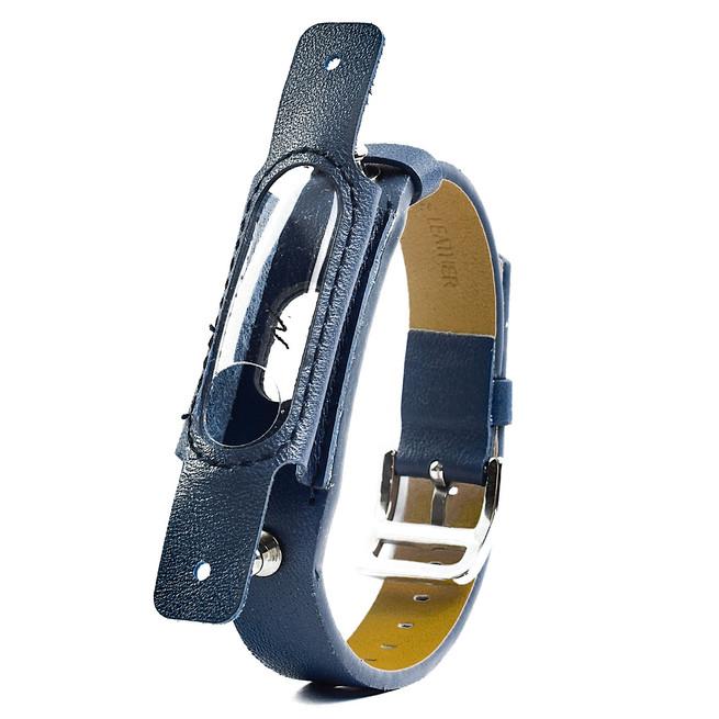 بند چرمی دستبند سلامتی Xiaomi Mi Jaos Mi Band 2 Strap With Leather Cover کد L1