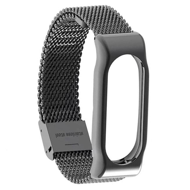 بند فلزی میلانس دستبند سلامتی شیائومی Xiaomi Mi Band 2 Milanese Metal Strap کد 304